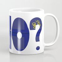 the who Mugs featuring Who? by Lea Bostwick