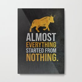 Business Wealth Motivational Quote Metal Print