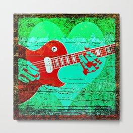 Guitar Love Metal Print