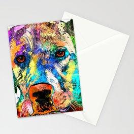 Labrador Retriever Grunge Stationery Cards