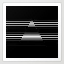 Abstraction 014 - Minimal Geometric Triangle Art Print