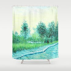 Van Gogh : Park in Asnieres Shower Curtain