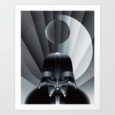Deco Vader (design size 11x14) Art Print