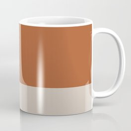 Minimalist Solid Color Block in Clay and Putty Coffee Mug