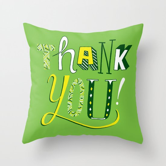 Thank You! Throw Pillow