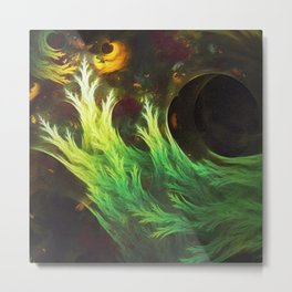 Psychedelic Seaweed Swimming in Yummy Brown Miso Soup Metal Print