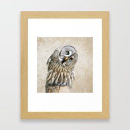 Who? Framed Art Print