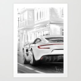 Aston Martins deluxe Art Print