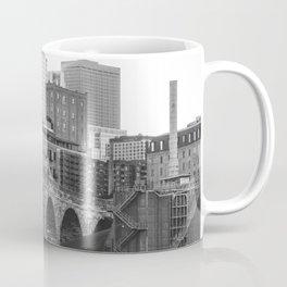 Minneapolis Skyline Black and White Coffee Mug