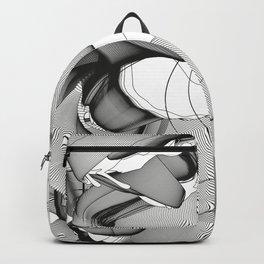 Metamorfosis #1 Abstract Art Line Backpack