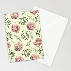 Secret Garden Pink and Green Stationery Cards