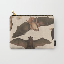 Vintage Flying Bat Illustration (1874) Carry-All Pouch