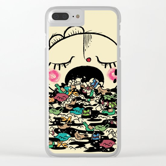 Save the fishes Clear iPhone Case