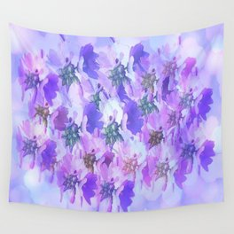 Painterly Glowing Floral Abstract Wall Tapestry