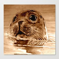 seal Canvas Prints featuring Seal by ARTito