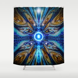 Cosmic Collage Shower Curtain