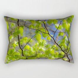Glowing birch leaves Rectangular Pillow