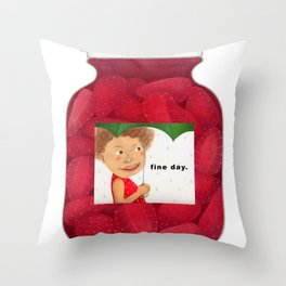 fine day. Throw Pillow