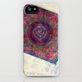 Mandala out my garden window iPhone Case
