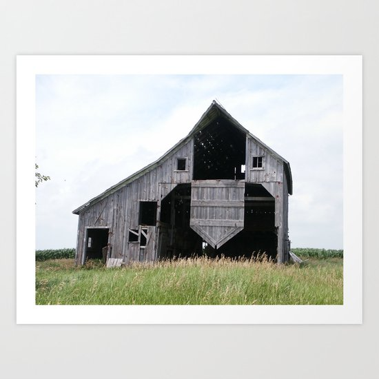 Abandoned Barn 4 Art Print