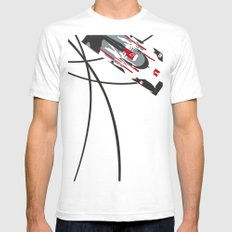 e-tron Mens Fitted Tee White LARGE