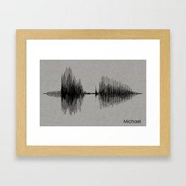Michael Sound Wave Portrait Framed Art Print