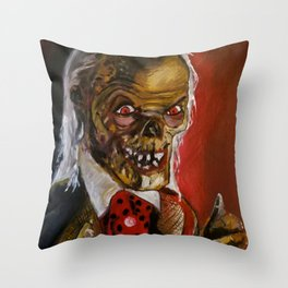The Crypt Keeper Throw Pillow