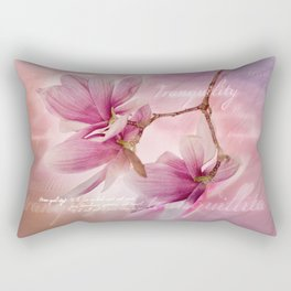 Tranquility - Magnolia Flower (Creative Collection) Rectangular Pillow