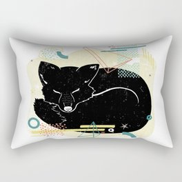 Dreaming fox illustration Rectangular Pillow
