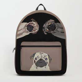 Triple Pugs Backpack