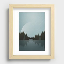 That Night in the Clearing Recessed Framed Print
