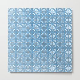 Spanish Azulejos Design Metal Print