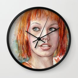 Leeloo Portrait Fifth Element Art Wall Clock