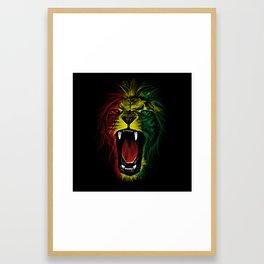 Rasta Roar Framed Art Print