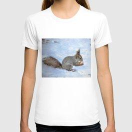 Walnut with snow T-shirt