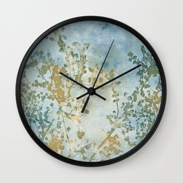 Hazy Days Wet Cyanotype Wall Clock