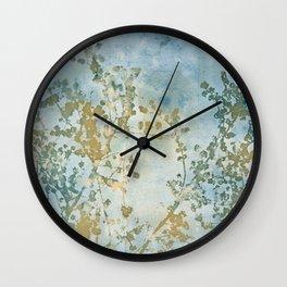 Hazy Days Wet Cyanotype Wall Clock