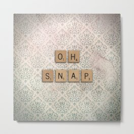 OH SNAP! Scabble Tile Wall Art Metal Print
