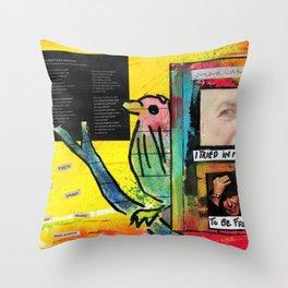 Leonard Cohen Throw Pillow