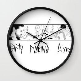 biffy fucking clyro Wall Clock