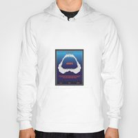 jaws Hoodies featuring Jaws by GlennTKD