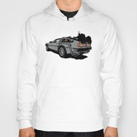 delorean Hoodies featuring DeLorean by CranioDsgn