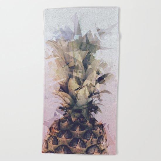 Defragmented Pineapple Beach Towel