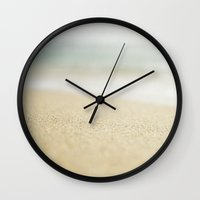 sand Wall Clocks featuring Sand by Pure Nature Photos
