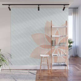 Floral Stripes Wall Mural