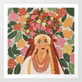 Polish Bride Art Print