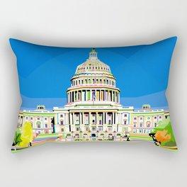 Capitol Building in Anomali WPAP Rectangular Pillow