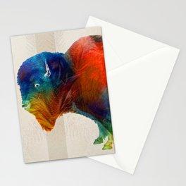 Buffalo Animal Print - Wild Bill - By Sharon Cummings Stationery Cards