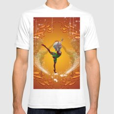 Dancing for christmas MEDIUM White Mens Fitted Tee