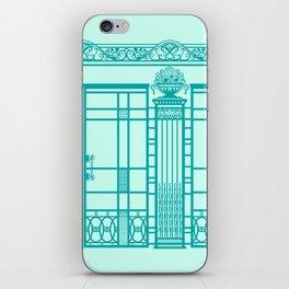ART DECO, ART NOUVEAU IRONWORK: Blue Green Dream iPhone Skin